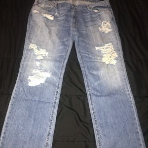 Excellent condition distressed men's Levi's